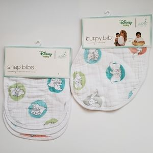 NWT [Aden + Anais] 4 Bib Bundle, Flying Dumbo
